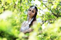 wedding photo - Bohemian Wedding Headband Wedding Hair Accessories Goddess headpiece Head jewelry chain Boho chain headpiece Bridal head chain Beach wedding