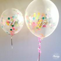 wedding photo - Custom Colors- 4 Balloon Bunch / Centerpiece