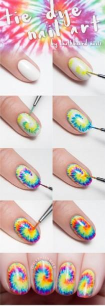 wedding photo - Tie Dye Your Tips With This Nail Art Tutorial And Sneak Peek From