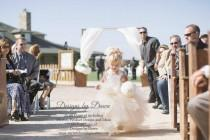 wedding photo - Flower girl dress with lace overlay! Mini Bride Dress. Vintage. Corset, Tutu Skirt. detachable Train & Hair Pc! More colors available
