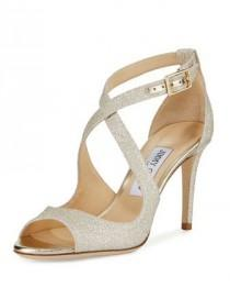 wedding photo - Jimmy Choo Emily Glitter Crisscross Sandal