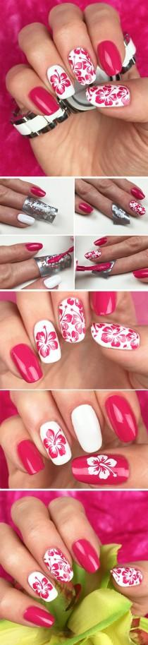 wedding photo - Aloha Nail Art Stencils