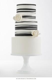 wedding photo - Classic Black & White Striped