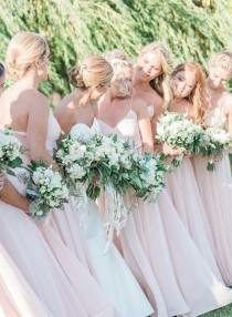 wedding photo - Blush White Gown