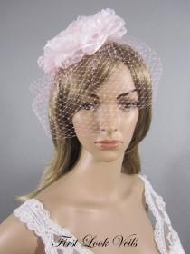 wedding photo - Pink Birdcage Veil, Wedding Veil, Bird Cage Veil, Pink Russian Netting Veil, Valentine Bridal Accessory, Pink Veil, Pink Hair Comb