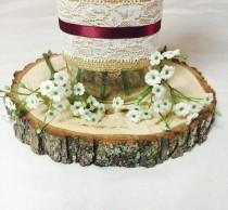 "wedding photo - 9"" Set of 15! Tree slices! wedding centerpieces, wood slice decor, arts and crafts, wood rounds, wood slice centerpieces, wood stump."