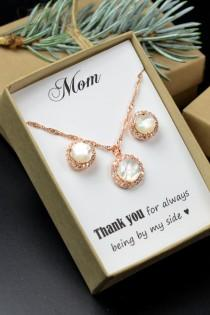 wedding photo - Mother of the Bride Gift, Personalized Bridesmaids Gift, Mother of the Groom Gifts, Bridal Party Gift, Bridal Party Jewelry, Wedding