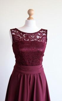 wedding photo - Short burgundy lace dress Short bridesmaid dress Short burgundy bridesmaid dress Burgundy dress Marsala bridesmaid