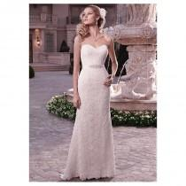 wedding photo - Charming Venice Lace & Satin Sheath Strapless Sweetheart Raised Waist wedding Dress - overpinks.com