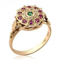 wedding photo - Rose Gold Ring, Rose Gold Jewelry, Engagement Ring, Rose Gold Carmen Ring, Birthstone Ring, Diamond, Ruby, Rose Gold Rings, Engagement Ring