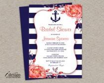 wedding photo - Nautical Bridal Shower Invitation