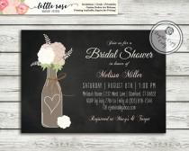 wedding photo - Wine Bridal Shower Invitation - Wedding Shower Invite - Wine Bottle - Vineyard Chalkboard Invitation - Baby Shower - Printable - LR1027