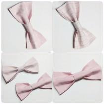 wedding photo - blush bow ties wedding bow ties pink bow tie pale pink bow tie floral bow tie checkered bow tie old pink bow tie groom's tie groomsmen hjfrd