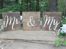 wedding photo - Mr & Mrs Signs, Sweetheart Table Signs, Wedding Table Signs, Wedding Table Decor, Table Numbers, Wooden Wedding Signs,  Wedding Decor,