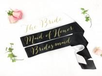 wedding photo - Bride to Be Sash - bridal party sash- bridesmaid sash-  Bachelorette Sash - Bridal Shower Bachelorette Party - Satin Bride Sash - Bride Sash