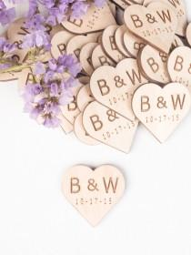 wedding photo - Personalized Wooden Hearts, Wedding Favors, Wooden Heart Favors, Heart Tags, Heart Favors, Wood Heart, Drink Tags, Woodworking, wood craft,