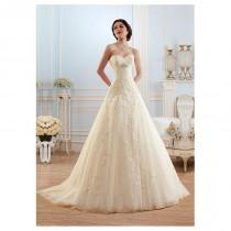 wedding photo - Glamorous Tulle Sweetheart Neckline Raised Waistline A-line Wedding Dress With Lace - overpinks.com