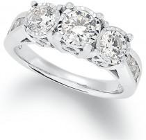 wedding photo - Trumiracle® Diamond Trinity Ring (1-1/2 ct. t.w.) in 14k White Gold