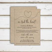 wedding photo - Camilla - Printable/Printed Elopement Reception Invitation, Reception Only, Already Married, We Tied the Knot, We got hitched, Let's Party