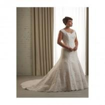 wedding photo - Elegant Tulle & Satin Scoop Neckline Natural Waistline A-line Plus Size Wedding Dress - overpinks.com
