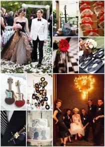 wedding photo - Mon mariage rock et chic sous le signe de la musique - Mariage.com