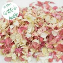 wedding photo - 10 Litres approx 100 guests Natural Wedding Confetti Eco-Friendly Biodegradable Dried Delphinium Petals Blush Pink