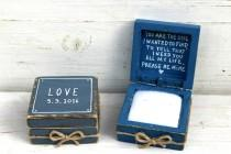 wedding photo - Rustic Engagement  ring box, Proposal ring box, Ring pillow box, Personalized ring box, Wedding ring pillow