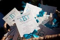 wedding photo - Beach Wedding Program Fans, Turquoise Wedding Programs, Wedding Program Fans, Ceremony Programs, Turquoise Monogram Program Fan SAMPLE