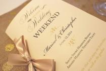 wedding photo - Welcome Wedding Booklet, Gold Wedding Programs, Wedding Welcome Letter, Wedding Timeline, Welcome Bag Booklet, Gold Wedding Welcome Sample