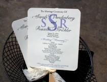 wedding photo - Lace Wedding Program Fan / Lavender Programs / Vintage Program Fans/ Garden Wedding Fan /  Lavender Fan SAMPLE
