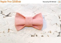 wedding photo - SALE 25% OFF Hair bows Pink bow tie Flowers bow tie Pastel bow tie Blush bow tie Floral pattern Girls bow tie Gift for her Preppy bow tie Cl