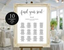 wedding photo - Wedding seating chart, printable seating chart, Seating Chart Template, engagement seating chart, Seating Board, Find your seat sign, WPC_7
