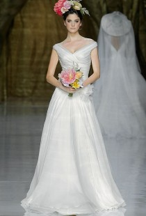 wedding photo - Classic Wedding Gowns With Portrait Necklines
