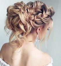 wedding photo - Beautiful Braided Wedding Hairstyle For Long Hair
