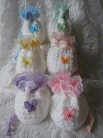 wedding photo - Crochet Gift Bags - Sherbet Butterfly and Lace