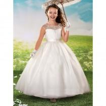 wedding photo - Marys Bridal F429 Illusion Back Scoop Neckline Sweetheart Bodice Dress - Marys Bridal Pageant Dress - 2017 New Wedding Dresses