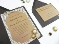 """wedding photo - Rustic Victorian Style Book Page 4 Piece Wedding Invitation Suite- """"Weathered Elegance"""""""