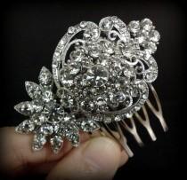 wedding photo - Crystal Bridal Hair Comb, Art Nouveau Bridal Hair Jewelry, Victorian Wedding Headpiece, Swarovski Bridal Headpiece, Gift for Her, CELESTA