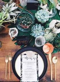 wedding photo - Earthy Outdoor Dinner Party