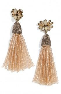 wedding photo - Aurora Tassel Drop Earrings