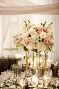 wedding photo - Tall Wedding Centerpieces