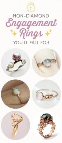 wedding photo - 31 Gorgeous Non-Diamond Engagement Rings You'll Totally Fall For