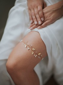 wedding photo - Gold Wedding Garter