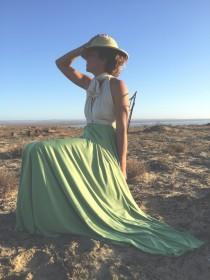 wedding photo - Two Toned Infinity Wrap Dress- Custom Choose your Fabrics~ Nautical Wedding, Bridesmaids, Summer Safari