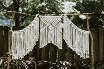 wedding photo - Macrame Wedding Backdrop Curtain - Bohemian - Modern -