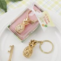 wedding photo - Pineapple Key Chain Gold Wedding Favor Gift Bridesmaid Gift Maid of Honor Gift