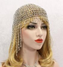 wedding photo - Great Gatsby Headpiece, Roaring 20s, Great Gatsby Headband, 1920s Flapper Headband, Beaded Headpiece, Gatsby dress, Downton Abbey