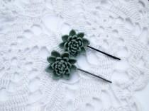 wedding photo - Wedding hair accessory Bridal bobby pin Bridesmaid bobby pin Succulent wedding hair piece flower girl head piece Girl hair accessory Flower