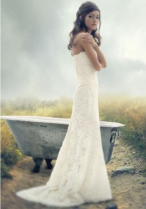 wedding photo - Melissa Sweet Hallie Strapless Wedding Dress