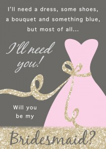 wedding photo - Will You Be My Bridesmaid / Maid Of Honor / Matron Of Honor Invitation - DIY Instant Download Printable PDF